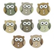 Dress It Up Owls Buttons