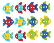 Dress It Up Shaped Novelty Buttons Fish