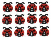 Dress It Up Shaped Novelty Buttons Ladybugs