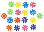 Dress It Up Shaped Novelty Buttons Retro Flowers