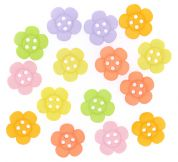 Dress It Up Shaped Novelty Buttons Sherbet Flowers