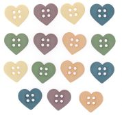 Dress It Up Shaped Novelty Buttons Hearts