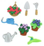 Dress It Up Shaped Novelty Buttons Gardening