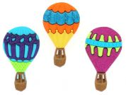 Dress It Up Shaped Novelty Buttons Hot Air Balloons