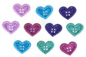 Dress It Up Shaped Novelty Buttons Large Hearts