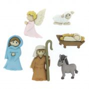Dress It Up Christmas Nativity Buttons