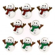 Dress It Up Shaped Novelty Buttons Christmas Sew Cute Snowmen