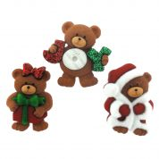 Dress It Up Shaped Novelty Buttons A Beary Merry Christmas