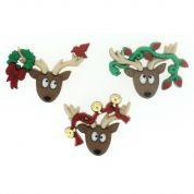 Dress It Up Oh Deer Christmas Buttons
