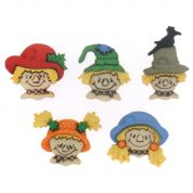 Dress It Up Shaped Novelty Buttons Scarecrow Faces