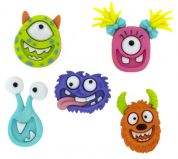 Dress It Up Shaped Novelty Buttons Mad for Monsters