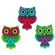Dress It Up Retro Owl Buttons