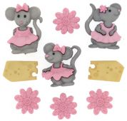 Dress It Up Shaped Novelty Buttons The Mice Girls