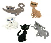 Dress It Up Shaped Novelty Buttons Nine Lives