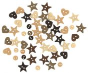 Dress It Up Shaped Novelty Buttons Natural Minis
