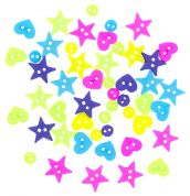 Dress It Up Shaped Novelty Buttons Neon Minis