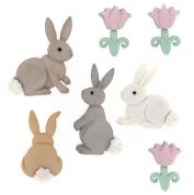 Dress It Up Shaped Novelty Buttons CottonTails