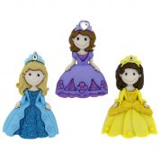 Dress It Up Shaped Novelty Buttons Pretty Princesses