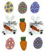Dress It Up Shaped Novelty Buttons Egg Hunt