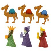 Dress It Up We Three Kings Christmas Buttons