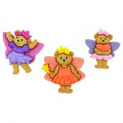 Dress It Up Shaped Novelty Buttons Fairy Bears