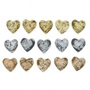Dress It Up Shaped Novelty Buttons Cappuccino Hearts