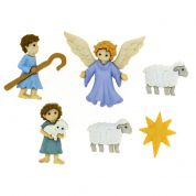 Dress It Up The Good Shepherd Christmas Buttons