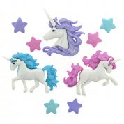 Dress It Up Magical Unicorns Buttons