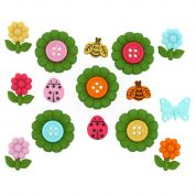 Dress It Up Your Time to Blossom Buttons