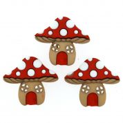 Dress It Up Mushroom Houses Buttons