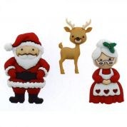 Dress It Up Mr & Mrs Claus Christmas Buttons