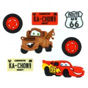 Dress It Up Disney Shaped Novelty Buttons Cars!