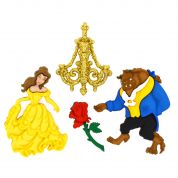 Dress It Up Disney Shaped Novelty Buttons Beauty & The Beast