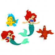 Dress It Up Disney Shaped Novelty Buttons The Little Mermaid