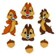 Dress It Up Disney Shaped Novelty Buttons Chip & Dale