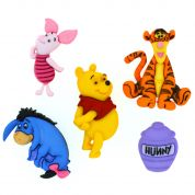 Dress It Up Disney Shaped Novelty Buttons Winnie The Pooh