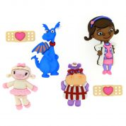 Dress It Up Disney Shaped Novelty Buttons Doc McStuffins