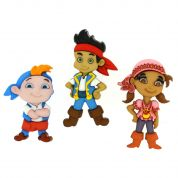 Dress It Up Disney Shaped Novelty Buttons Jake & The Neverland Pirates