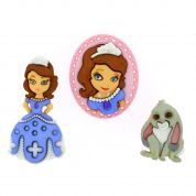 Dress It Up Disney Shaped Novelty Buttons Sofia The First