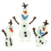 Dress It Up Disney Shaped Novelty Buttons Frozen Olaf
