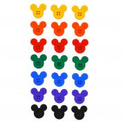 Dress It Up Disney Shaped Novelty Buttons Sew Thru Mickey Mouse