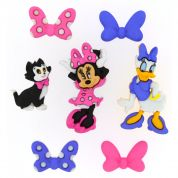 Dress It Up Disney Shaped Novelty Buttons Minnie Mouse Bowtique