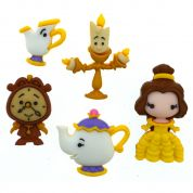 Dress It Up Disney Belle and Friends Buttons