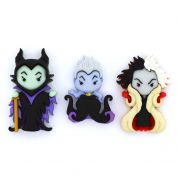 Dress It Up Ursula, Cruella & Maleficent Buttons