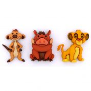 Dress It Up Disney Simba, Timon & Pumbaa Buttons