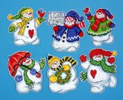 Design Works Plastic Canvas Kit I Love Snow Ornaments