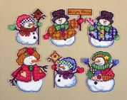 Design Works Plastic Canvas Kit Welcome Winter Ornaments
