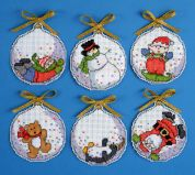 Design Works Plastic Canvas Kit Bubbles Cross Stitch Ornaments