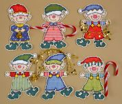 Design Works Plastic Canvas Kit Elves Ornaments