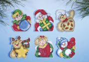 Design Works Plastic Canvas Kit Holiday Gifts Ornaments
